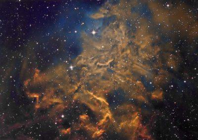 "IC405 by D. Wilson, 17"" Imaging Dall Kirkham, SBIG STXL 11002M"