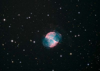 "M27 Dumbbell Nebula by S. Johnson, 12.5"" Imaging Dall Kirkham, Apogee U16M"