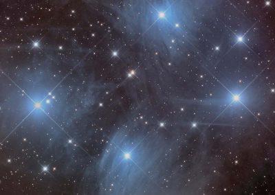 "M45 Pleiades by D. Schwartzenberg, 12.5"" Newtonian, QSI683"