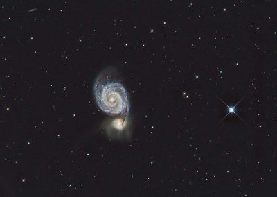"M51 Whirlpool Galaxy by M. Miller, 12.5"" Imaging Dall Kirkham, Apogee U16M"