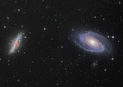 "M81 and M81 Galaxies by S. Johnson, 12.5"" Newtonian"